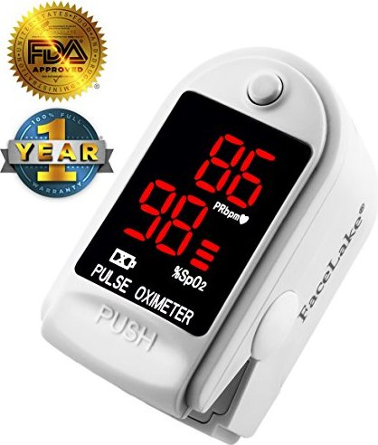 Facelake ® FL400 Pulse Oximeter with Carrying Case,